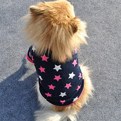 Howstar Pet Clothes, Puppy Star Print Shirts Doggie Apparels Soft Warm Costume (Blue, XS) by Howstar (Image #2)