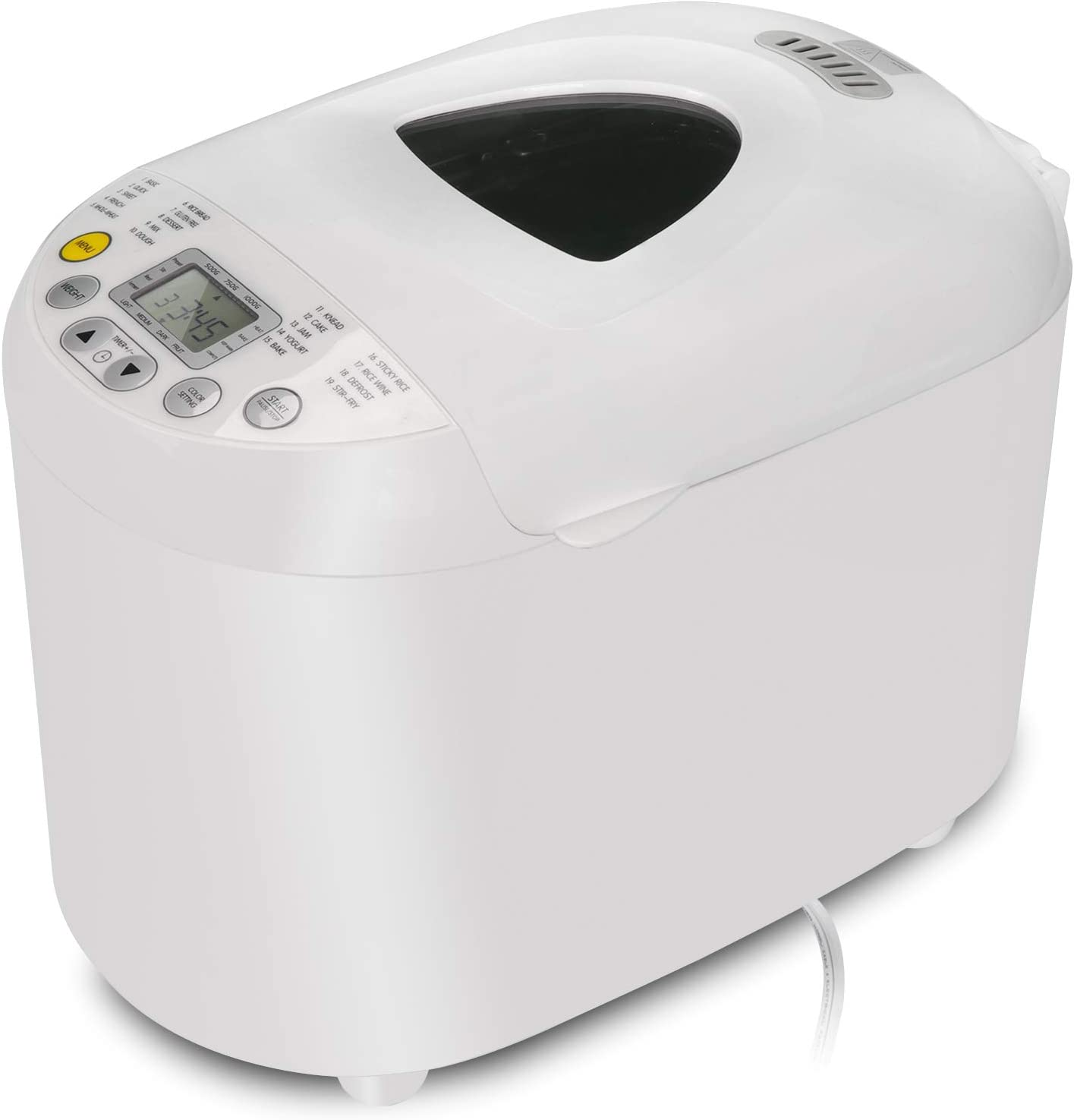 ZENY Programmable Bread Machine Stainless Steel 2LB 550W Electric Gluten Free Whole Wheat Breadmaker