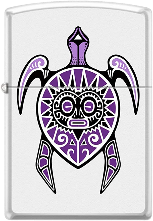 Tattoo Art Zippo - Mechero con diseño de tortuga tribal polinesia ...