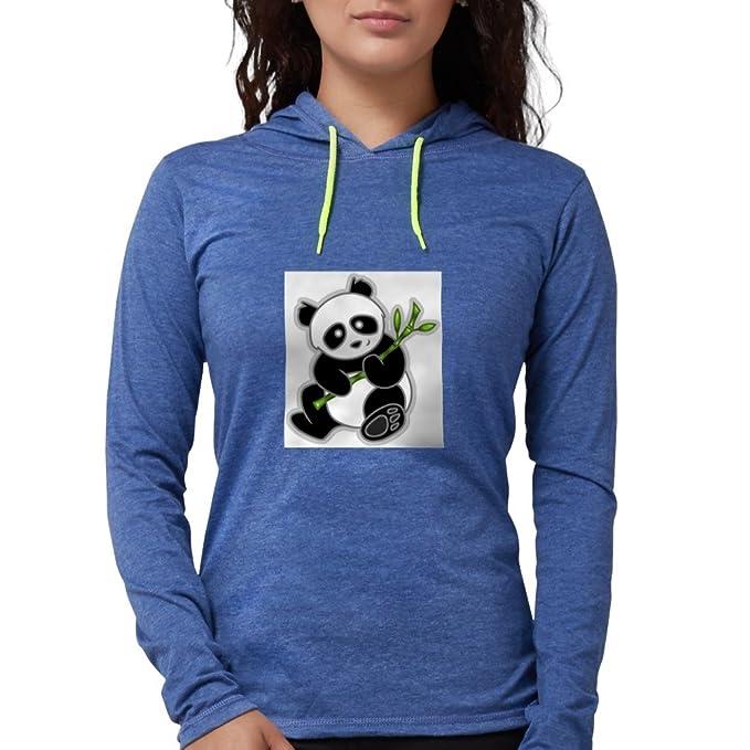 6260210f5 CafePress - Sitting Panda Long Sleeve T-Shirt - Womens Hooded Shirt Heather  Blue