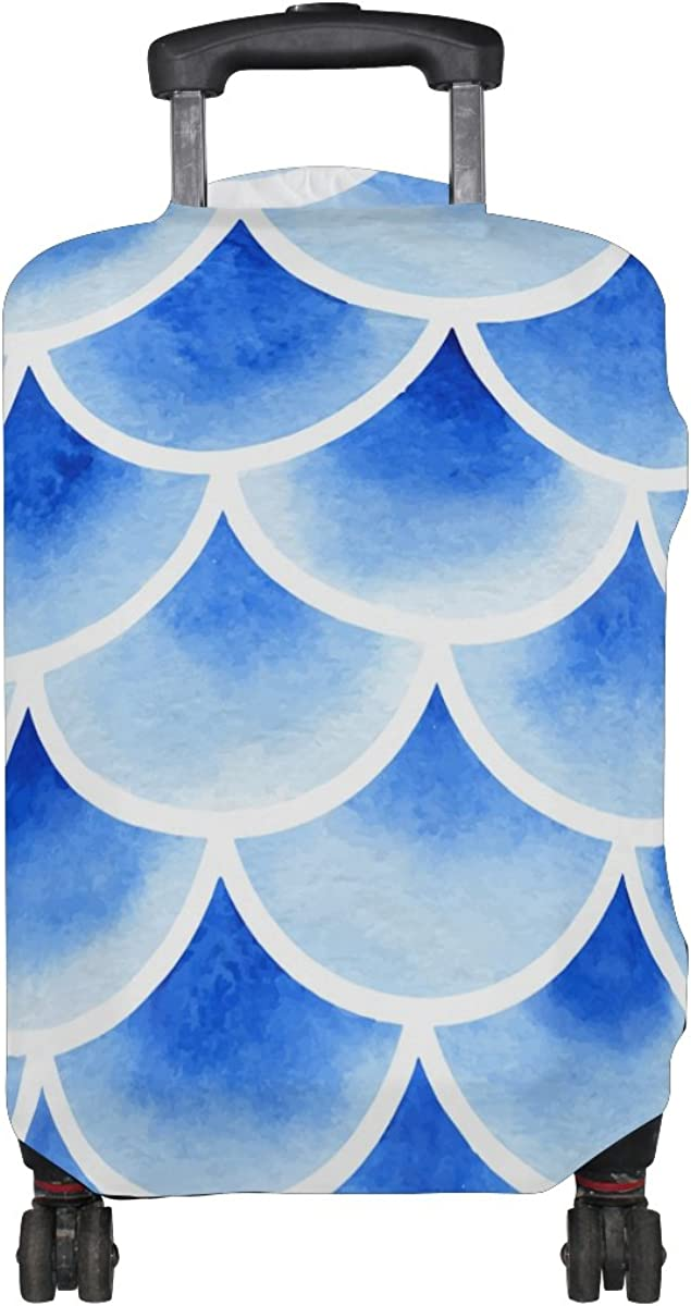 GIOVANIOR Watercolor Fish Scales Luggage Cover Suitcase Protector Carry On Covers