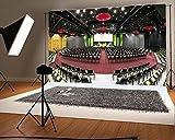 Laeacco 10x6.5 Vinyl Backdrop Photography Background Conference Hall Luxury Huge Scene Shiny Lights Backdrop Video Photo Studio Props