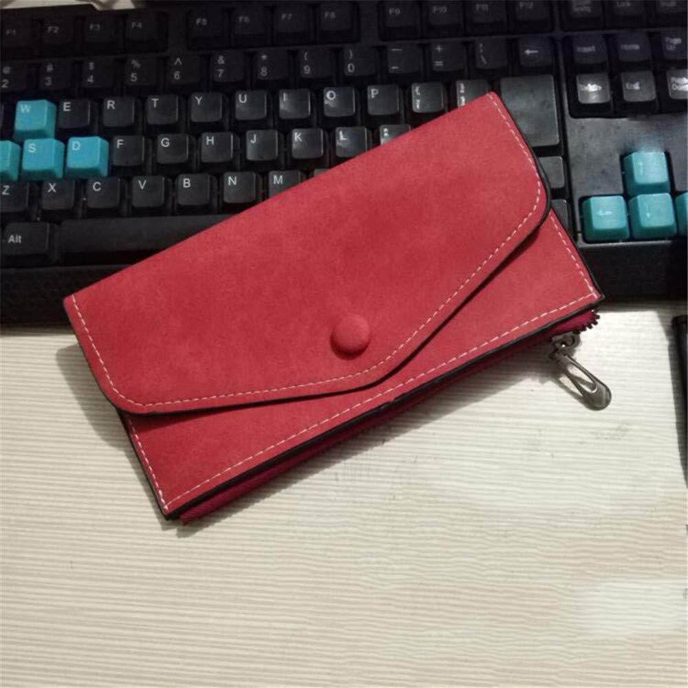 Lostryy Nouvelle Version coréenne de Ladies Zipper Mat Ultra-Mince Casual Portefeuille Long, Couleur du café foncé