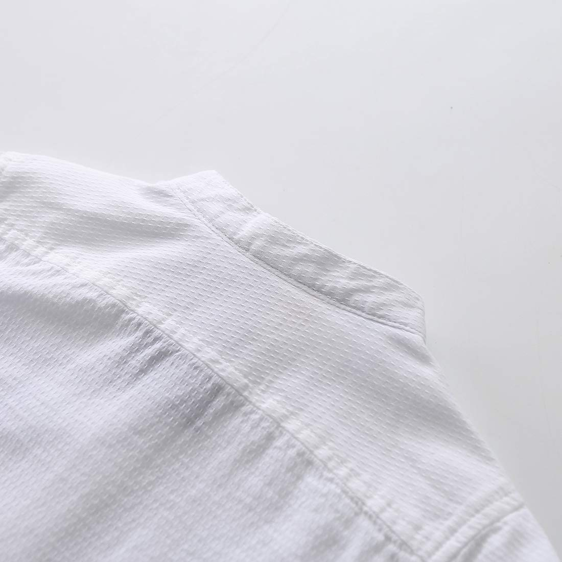 MOMOLAND Boys White Mandarin Collar Long Sleeve Button Down Shirt