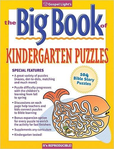 The Big Book of Kindergarten Puzzles #1 (Big Books): Gospel Light ...