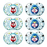 Tommee Tippee Closer to Nature Fun Style Orthodontic Toddler Soothie Pacifier, 18-36 Months - Boy, 6 Pack