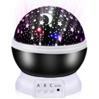 Led Projector sterrenhemel lamp,Nachtlampjes voor kinderen, Led-projectorlamp, Babynachtlampje projector Rotatie LED…