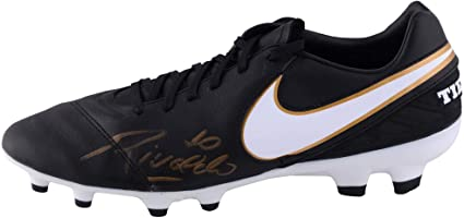 the latest cb940 779a6 Rivaldo Autographed Black and Gold Nike Tiempo Soccer Cleat - ICONS -  Fanatics Authentic Certified -