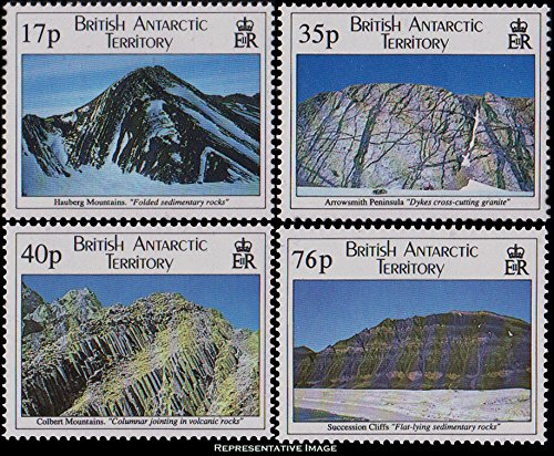 British Antarctic Territory Scott 231-234 17p, 35p, 40p and 76p Geological Structures. Mint never hinged.