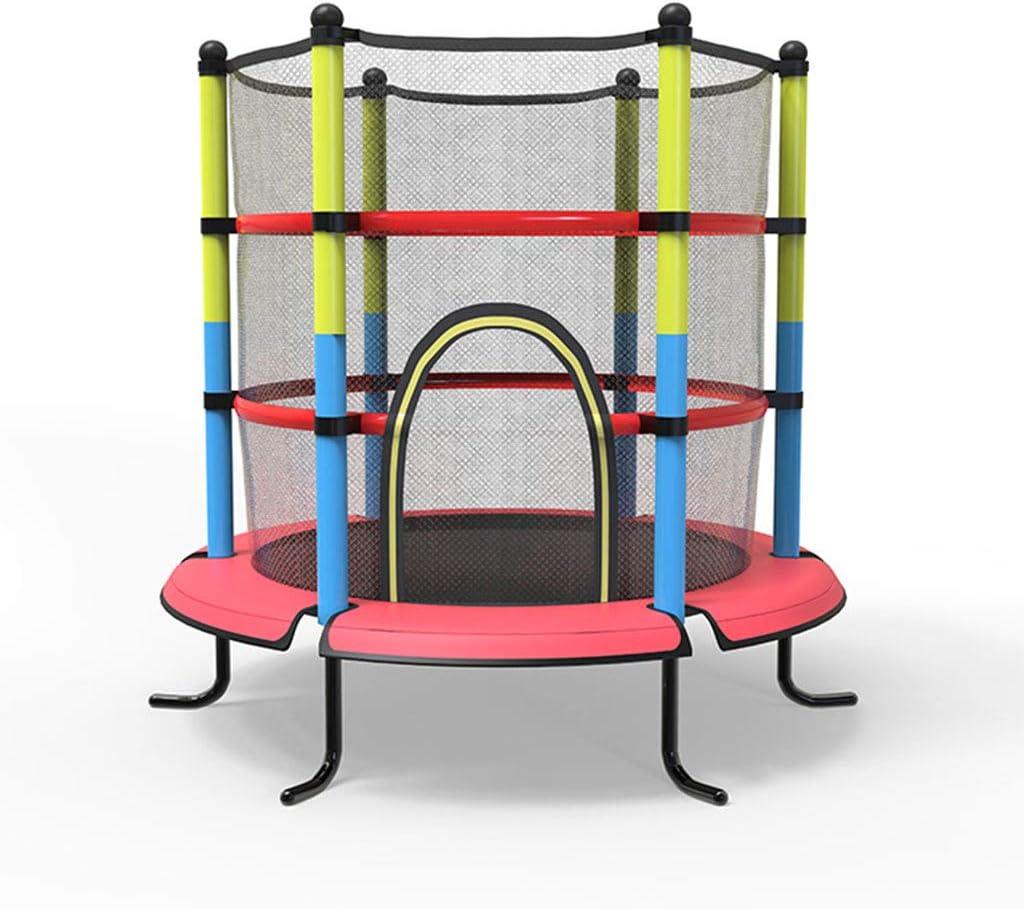 Trampolines de interior Trampolín Trampolín De Interior Trampolín For Niños Interacción Padre-Hijo Trampolín De Jardín con Red Protectora (Color : Red, Size : 140 * 140 * 160cm)
