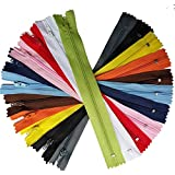 Upick Color 44pcs Nylon Coil Zippers Tailer Sewing Tools Craft 9 Inch 11 Colors JHC09 (Multi-Color)