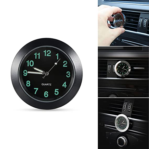 Amazon.com: ONEVER Car Clock, Car Air Vent Quartz Clock Mini Vehicle Dashboard Clock, 1.7