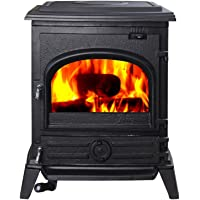 Hi-Flame Pony HF517U EPA Approved Contemporary Wood Stove, Black