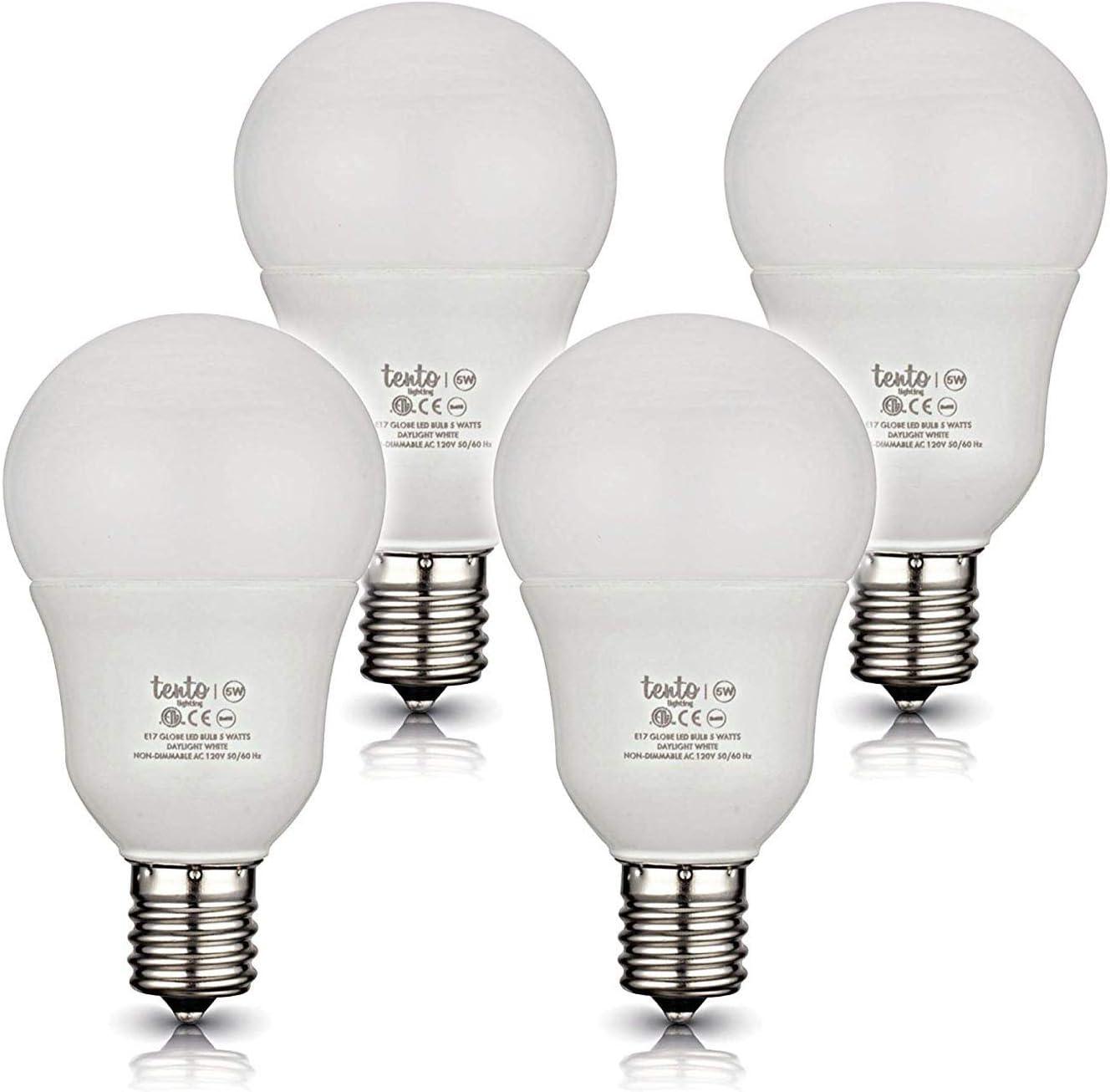 Tento Lighting E17 Globe Intermediate Edison Base Energy Saver Living Room Ceiling Fan Incandescent Led Light Bulbs Warm White 240 Degree Beam Angle 120v 40w 390 420lm 2750k Amazon Com