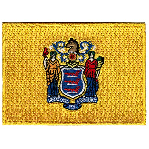 (New Jersey State Flag Embroidered Patch Iron-On NJ)
