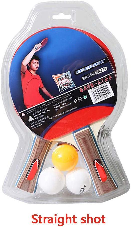 LFF TENT Tabla Raqueta de Tenis Set, Portátil Paleta de Ping Pong con 2 murciélagos y 3 Bolas, para Entretenimiento, los Principiantes Interior Actividades al Aire Libre,A