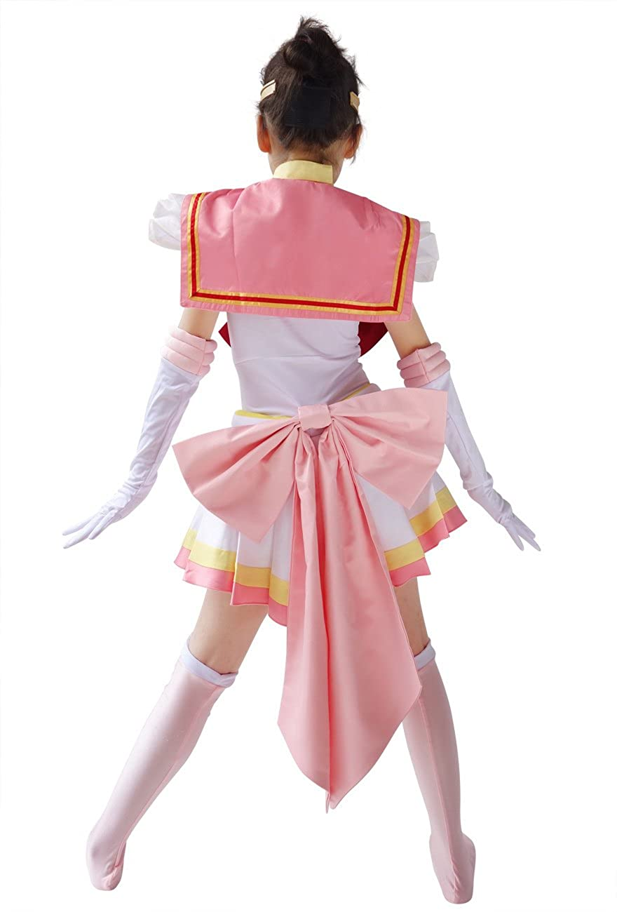 DAZCOS Kids Size Girls Super S Chibi USA Moon Fighting Cosplay Costume