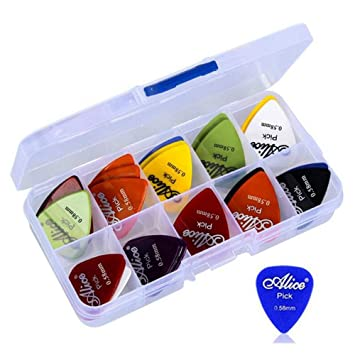 Guitar 100Pc Acoustic Electric Guitar Pick Plectrum Mixed Assorted Colors w// Box