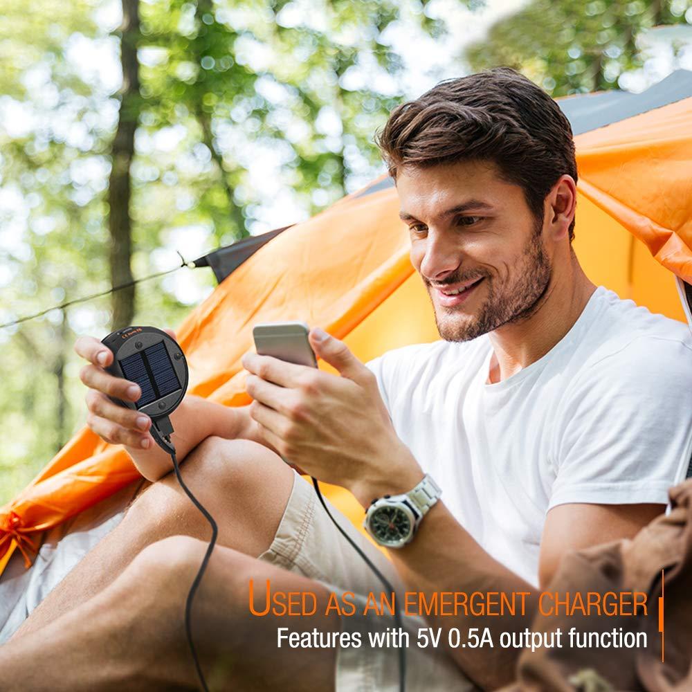 Outdoor 2 in 1 Faltbare Camping Lampe und Haken zum H/ängen Abenteuer Wandern Camping Laterne Taschenlampe Zusammenklappbar Zanflare Solar Campinglampe Angeln eignet f/ür Camping