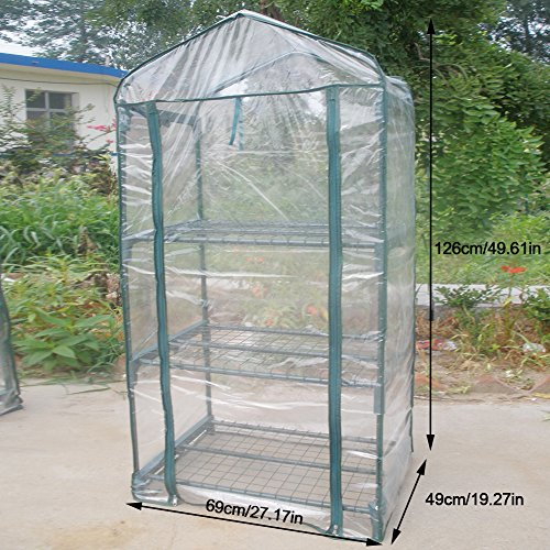 GLOGLOW Greenhouse Tent, Portable PVC Plant Green House Mini Warm Flower Plants Household Clear Waterproof Plant Cover for Outdoor and Indoor Gardening Planting(Without Iron Stand) by GLOGLOW (Image #2)