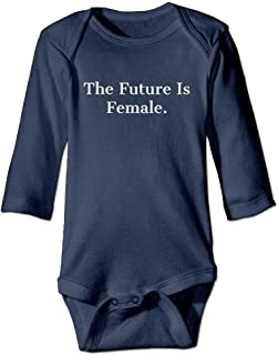 PhqonGoodThing Future is Female Baby Long Sleeve Jumpsuits