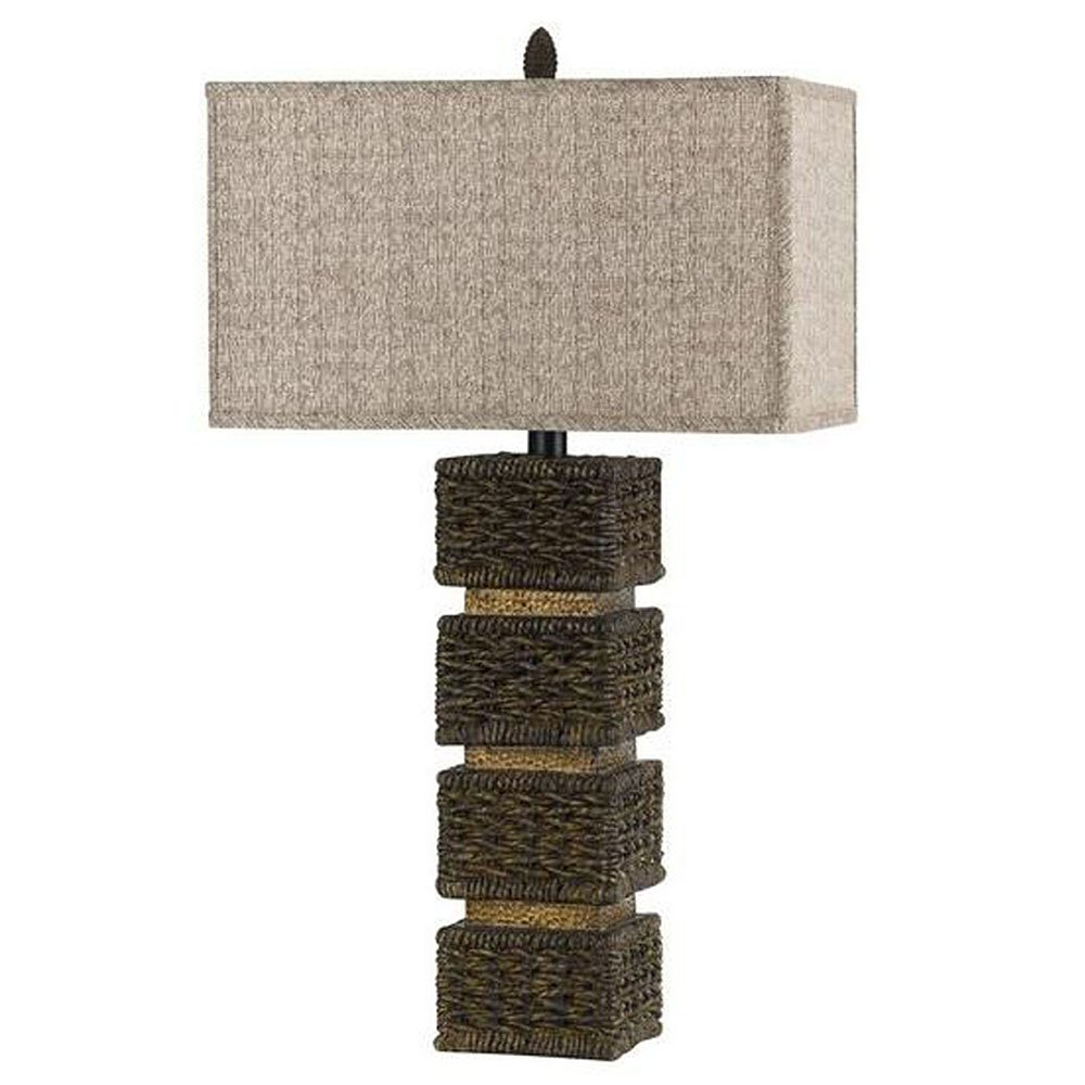 Cal Lighting BO-2169 Slatina Wicker Rattan Table Lamp