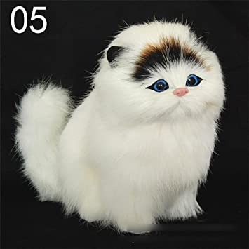 uhomey suave diseño de simulación de peluche de peluche persa gatos juguetes muñecas que se ve real, Eléctrico Sonido Cat para niños y niñas: Amazon.es: ...