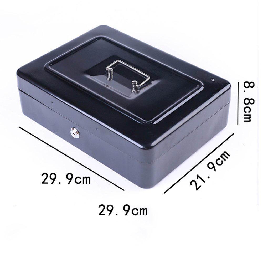 Bloqueado contraseña bloqueo alcancía Hierro pequeño dinero seguro de la caja Tarro del almacenaje de dinero portable Mini grande-B