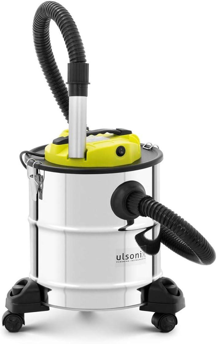 ulsonix Aspirador De Cenizas para Chimenea ASHCLEAN 20SW (Volumen 20 L, Soplador, 1200 Watt, Acero Inoxidable, Filtro HEPA, Ruedas): Amazon.es: Bricolaje y herramientas