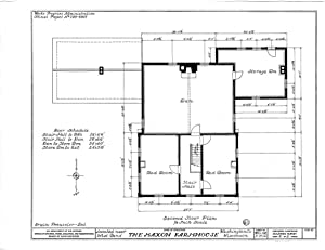 Historic Pictoric Blueprint Diagram HABS WIS,66-BENW.V,1- (Sheet 2 of 6) - Maxon Farmhouse, West Bend, Washington County, WI 30in x 24in