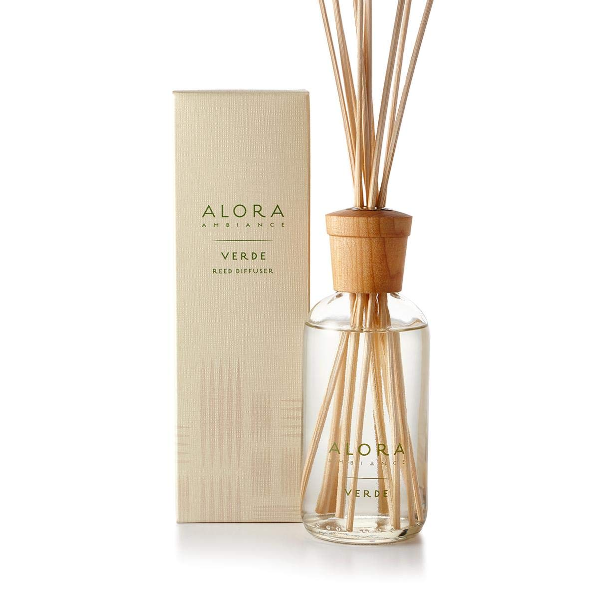 B00WDXPOD0 Alora Ambiance Verde 8 oz Reed Diffuser | Long-Lasting Fresh Melon Fragrance | Beautifully Designed for Any Space 6130PZeIqeL