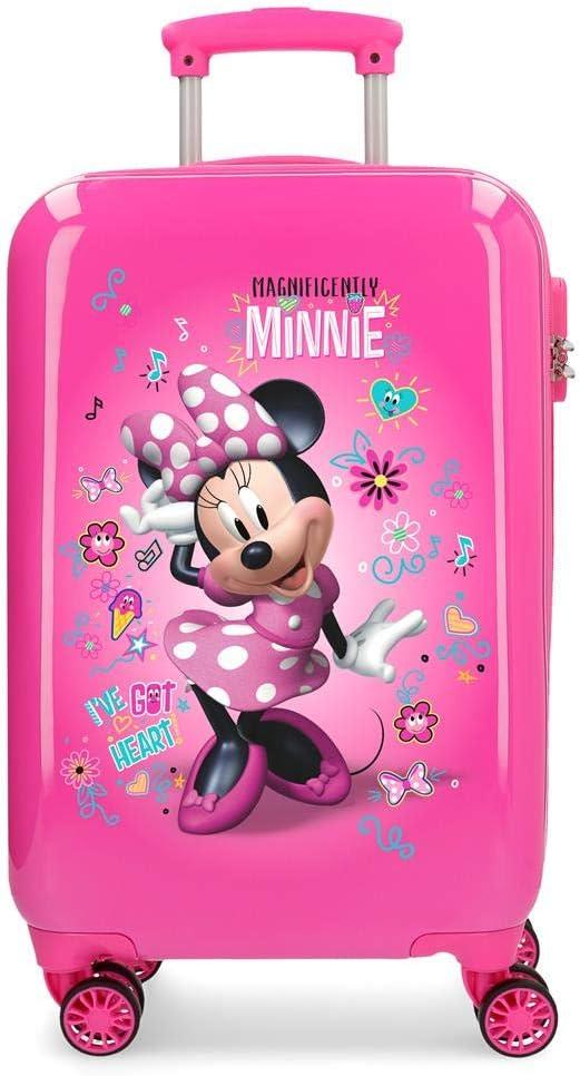 Maleta r/ígida con Pegatinas para ni/ños 55 cm Rosa 32 litros Disney Minnie Minnie Stickers