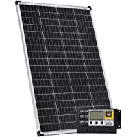Gencity 12V 300W Solar Panel + 20A Controller 2 USB Charge Power Caravan Camping Battery