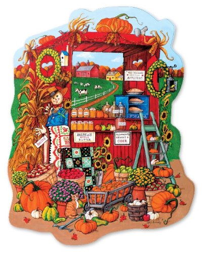 Fall Farm Stand Shaped 500 Piece Jigsaw Puzzle
