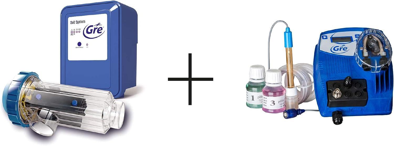 Gre SCGPH60 – Clorador Salino + Controlador de pH, para Piscinas de hasta 60 m3, 12 gramos/hora