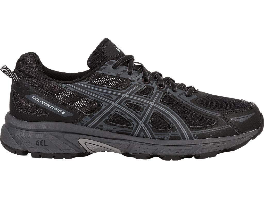 ASICS Mens Gel-Venture 6 Running Shoe, Black/Phantom/Mid Grey, 10 Medium US by ASICS