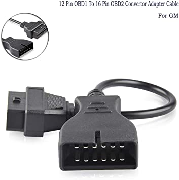 GM 12 Pin OBD1 to 16 Pin OBD2 Convertor Adapter Cable for Diagnostic Scanner