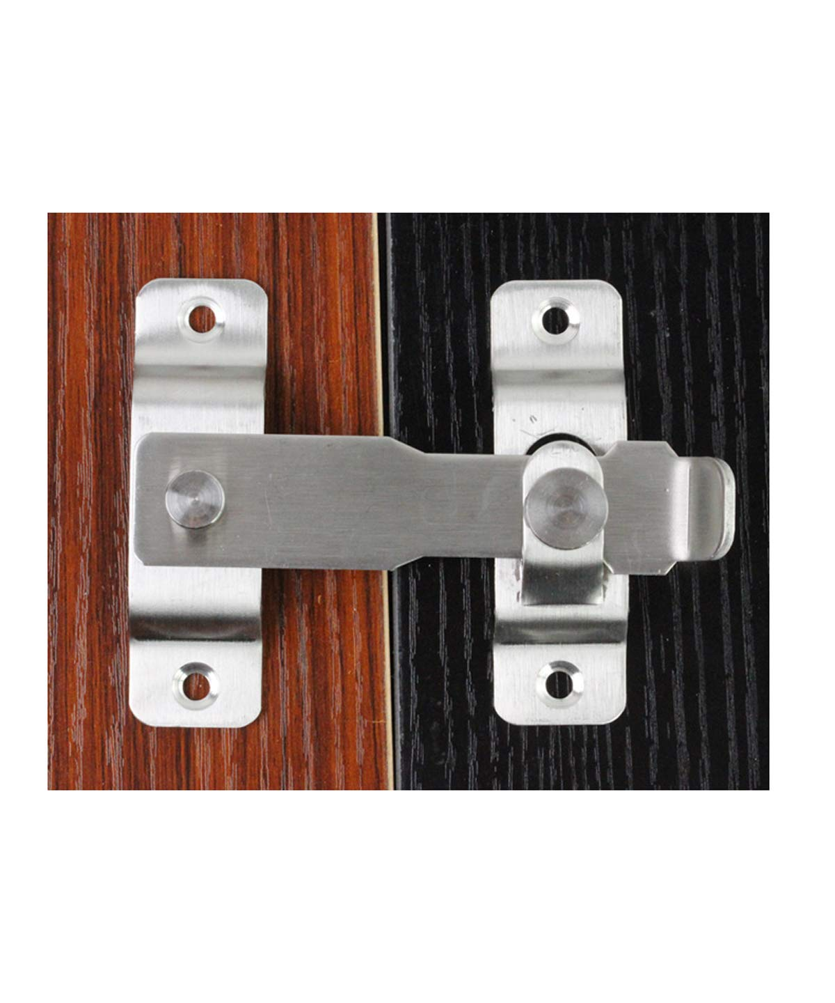 Heavy Duty Stainless Steel Flip Latch Door Lock With fixing screws brushed stainless steel surface