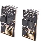 DIY Arduino ESP8266 Serie Módulo de Transceptor de WiFi Inalámbrico ESP-01 Compatible con RPi/AVR/ARM, (Azúl, Set de 2)