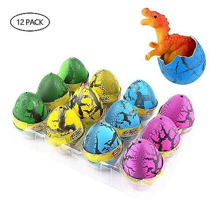 KOBWA - Juego DE 12 Huevos de Dinosaurio más Grandes (7 x 5 ...