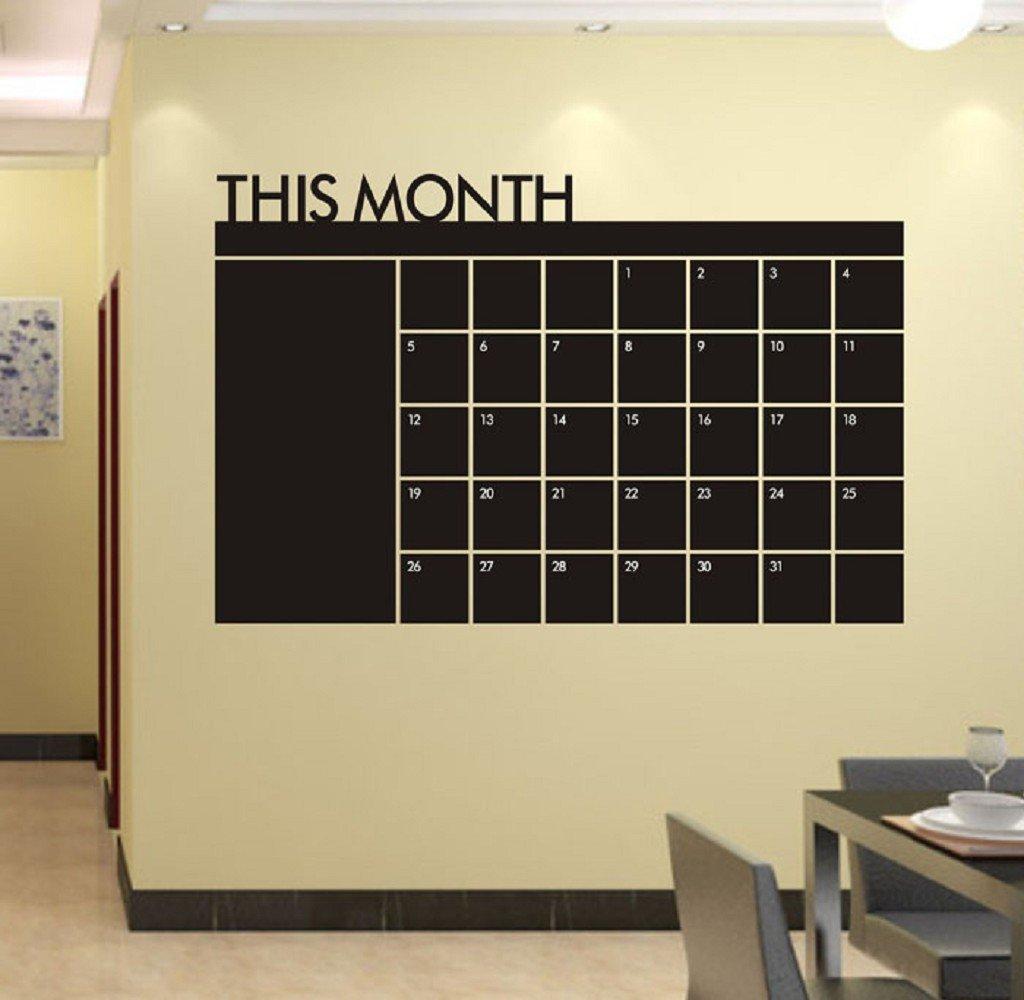 Amazon.com: LEERYA 60x92 Month Plan Calendar Chalkboard MEMO ...