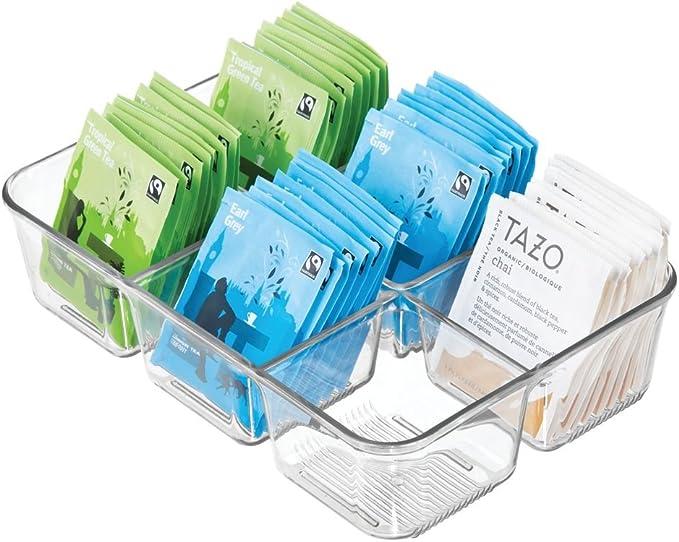mDesign Caja con Compartimentos para la Cocina – Caja para ...