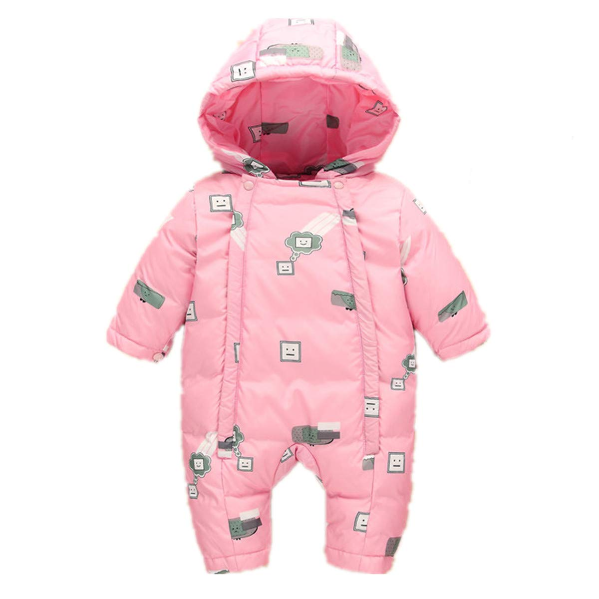 LJYH Baby Winter 3 Piece All in One Hooded Snowsuit Thick Down Jumpsuit Puffer Romper