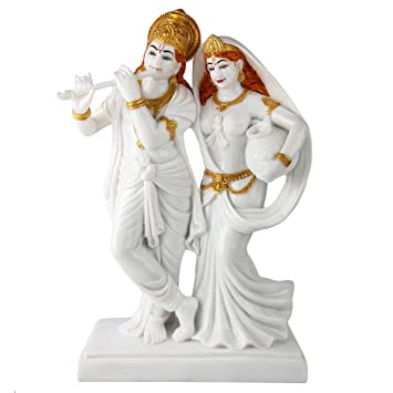 Buy Divine Gifts Lord Radha Krishna Marble Idol Radha Krishan