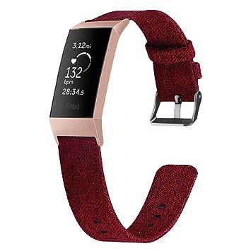 samLIKE Pulsera de Tela Fitbit Charge 3 para Hombre y Mujer, Correa ...