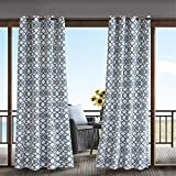 Navy Curtains For Door, Modern Contemporary Fabric Light Window Curtain For Outdoor, Daven Print Modern Window Curtains, 54X84, 1-Panel Pack For Sale