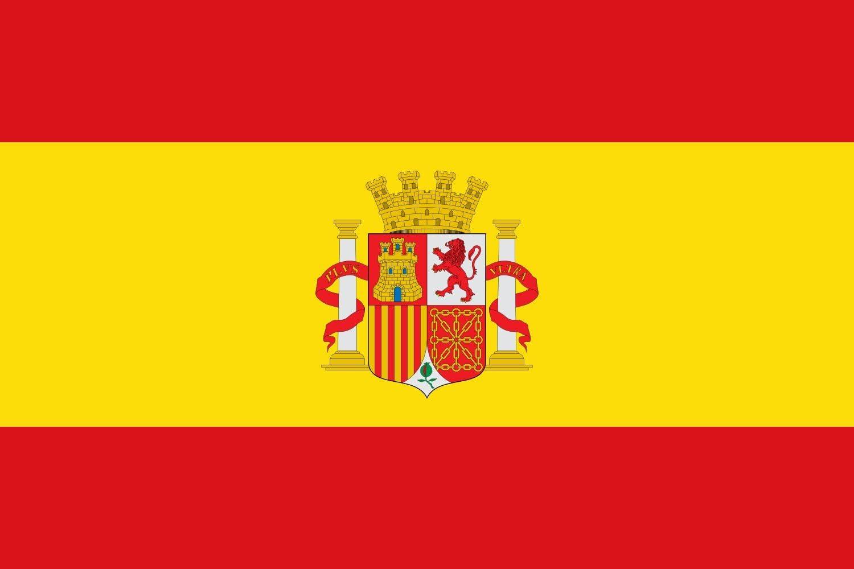 magFlags Bandera Large Española con el Escudo de España sin la Corona Real | Bandera Paisaje | 1.35m² | 90x150cm: Amazon.es: Jardín
