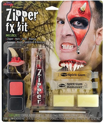 [Deluxe FX Zipper Makeup Kits - Devil] (Zipper Fx Kit)
