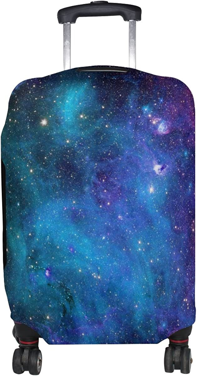 LAVOVO Watercolor Galaxy Nebula Luggage Cover Suitcase Protector Carry On Covers