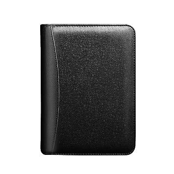 Cuaderno de negocios de piel sintética, tamaño A5, 90 hojas ...